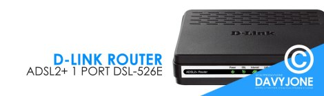 D-Link Router ADSL2+ 1 port DSL-526E